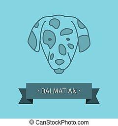 logo, race, conception, chien, dalmatien