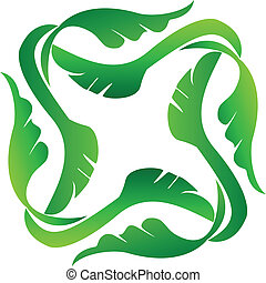 logo, ramme, det leafs, ikon