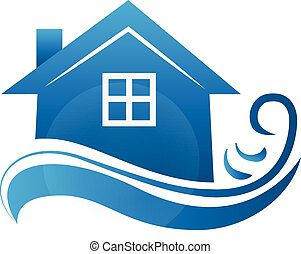 Logo real estate house business card