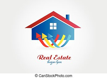 Logo real estate house vector design