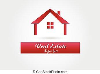 Logo real estate house vector