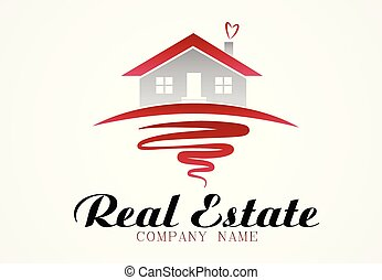 Logo real estate house
