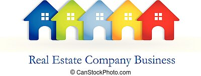 Logo real estate houses