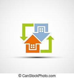 Logo real estate.