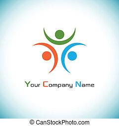 logo, rejoices, humain