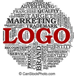 Logo related words in tag cloud