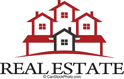 Logo Residential - Logo  Residential group of houses