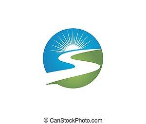 logo, rivière, r