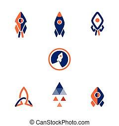 Logo rocket design