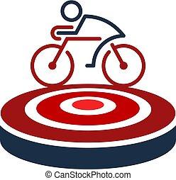 logo, rower, projektować, tarcza, ikona