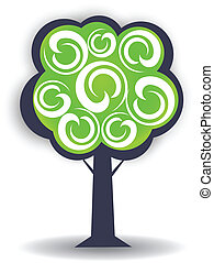 logo, sæson, konstruktion, træ, element