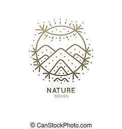 logo, sacré, nature