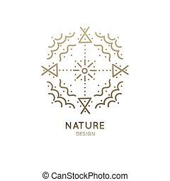 logo, sacré, résumé, nature