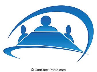 logo, salle réunion