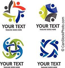 logo, samfund, folk