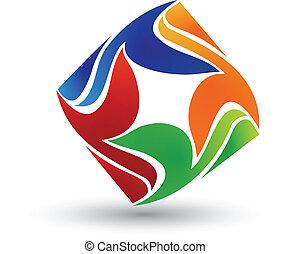 logo, sammandrag formge, skapande