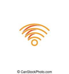 logo, sans fil, tour, icône, vecteur, illustration