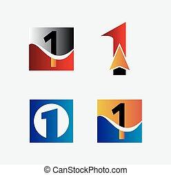 logo, satz, zählen