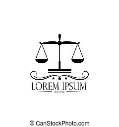 logo scales and crown. logo of a notary, a lawyer, a symbol of justice and law