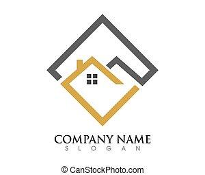 logo, schablone, eigenschaft