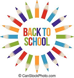 logo, schule, zurück