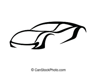 logo, schwarz, auto