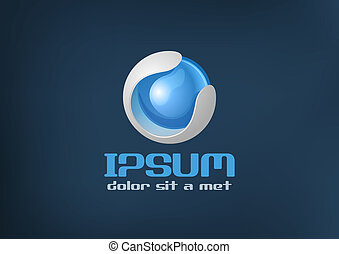 Logo sci-fi style - Bio & high technology icon. Future...