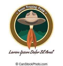 logo, scout, camp