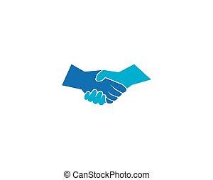 logo, secousse main