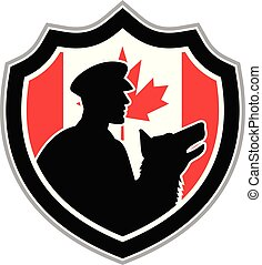 logo security grd dog GR CAN-FLAG