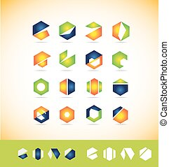 logo, set, communie, pictogram