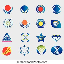 Logo set icon symbol element