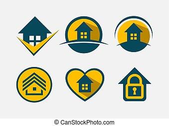 Logo set. Real estate.