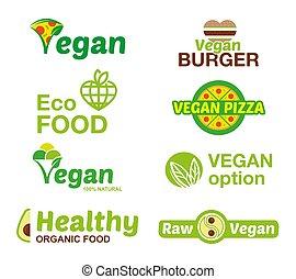 logo, set, vegan