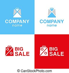 logo, set, verkoop, groot