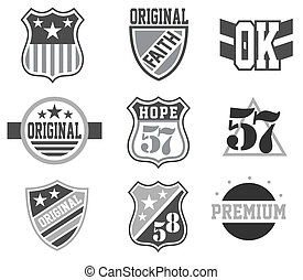 Logo set Vintage Design Elements