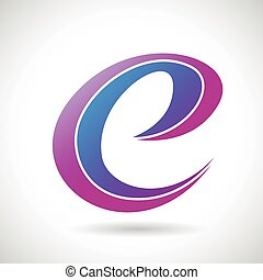 Logo Shape and Icon of Letter E, Vector Illustration