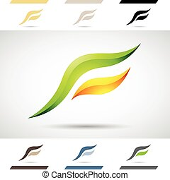 Logo Shapes and Icons of Letter F - Design Concept of...