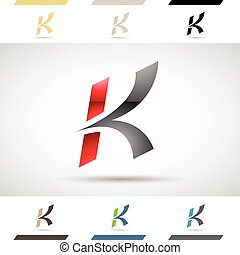 Logo Shapes and Icons of Letter K - Design Concept of...