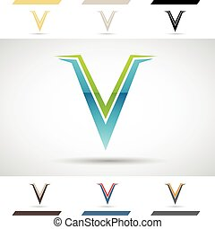 Logo Shapes and Icons of Letter V - Design Concept of...