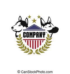 logo, sicherheit, vektor, hund