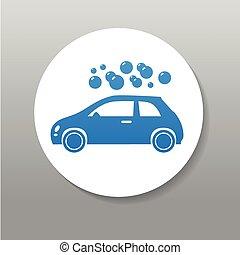 logo, signe, laver, voiture
