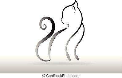 logo, silhouette, katz