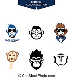 logo, singe, collection