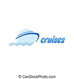 logo, skabelon, cruise