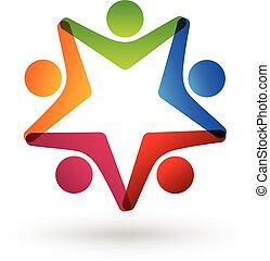 logo, sociaal, media