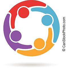 logo, sociaal, netwerk, media