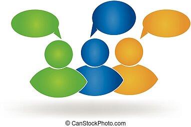 logo, sociaal, vrienden, zakelijk, media