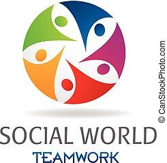 logo, social, collaboration, gens