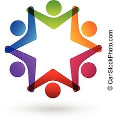 logo, social, média
